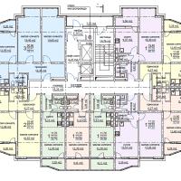 ЖК Метеора в Анапе, секция 2, план 5 этажа