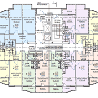 ЖК Метеора в Анапе, секция 2, план 8 этажа