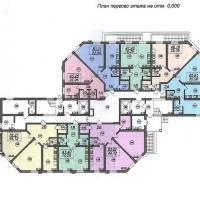 Планировка ЖК Тираспольская 1 - 1 этаж