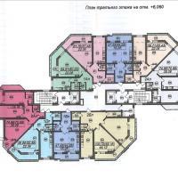 Планировка ЖК Тираспольская 1 - 3 этаж