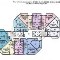 Типовая планировка этажей, тип 2
