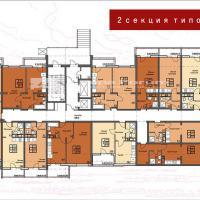 ЖК Триумф в Анапе Секция 2 план этажа