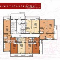 ЖК Триумф в Анапе Секция 3 план этажа