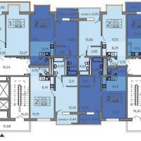 ЖК Адмирал в Анапе, Владимирская 148, планировка 17-18 этажей