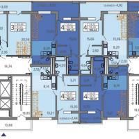 ЖК Адмирал в Анапе, Владимирская 148, планировка 19 этажа, пентхаус