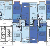 ЖК Адмирал в Анапе, Владимирская 148, планировка 7 этажа