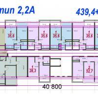 ЖК Южный планировка секции тип 2