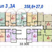 ЖК Южный планировка секции тип 3