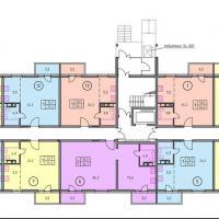 планировка типового этажа ЖК Времена года