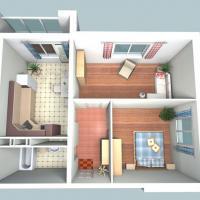 двухкомнатная квартира 53,8 кв.м.