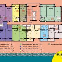 Блок 2, план 14 этажа 1 подъезд