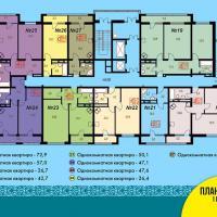 Блок 2, план 3 этажа 1 подъезд