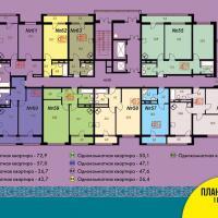 Блок 2, план 7 этажа 1 подъезд